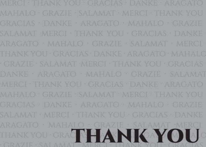 Multilingual Thank You
